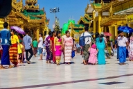 Shwedagon Pagode, Rangun, Myanmar