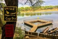 Schwimmkäfig ;) @Ngepi Campground
