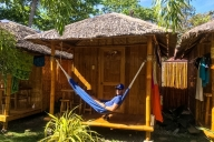 unsere Unterkunft in Dauin, Philippinen