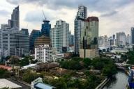Aussicht vom Airbnb, Bangkok